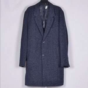 Michael Kors Slim Fit Herringbone Wool Overcoat